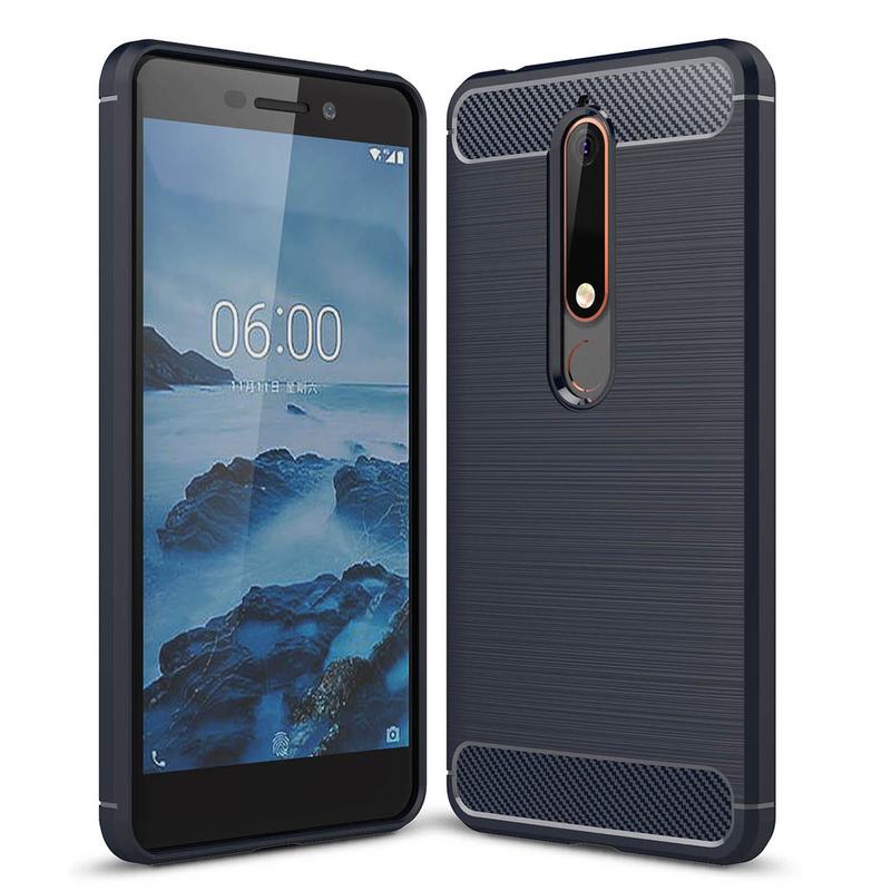 Husa Nokia 6 (2018) TPU Carbon Albastru