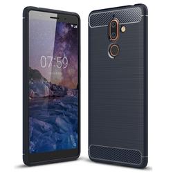 Husa Nokia 7 Plus TPU Carbon Albastru