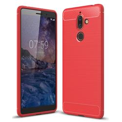 Husa Nokia 7 Plus TPU Carbon Rosu