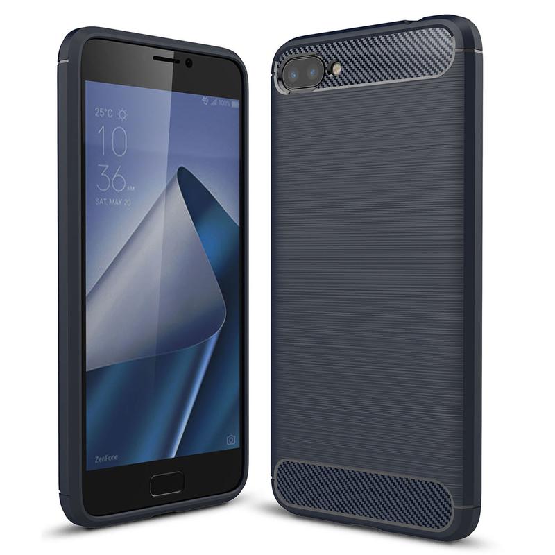 Husa Asus Zenfone 5 Lite ZC600KL TPU Carbon Albastru