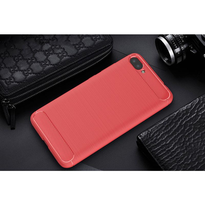 Husa Asus Zenfone 5 Lite ZC600KL TPU Carbon Rosu