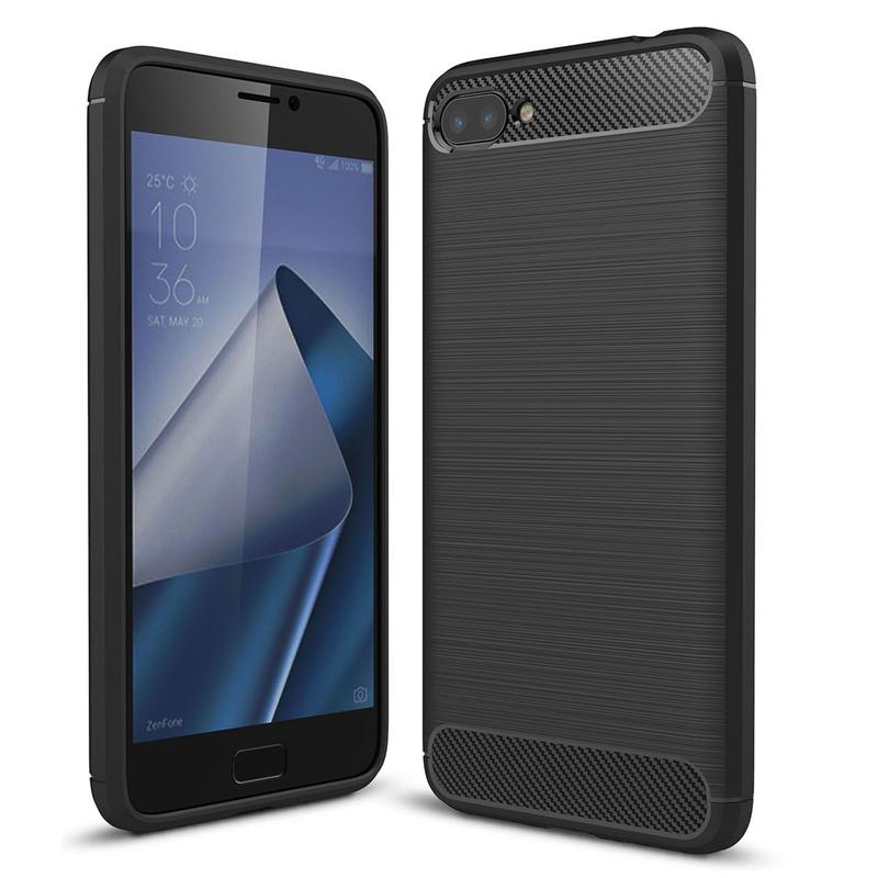 Husa Asus Zenfone 5 Lite ZC600KL TPU Carbon Negru