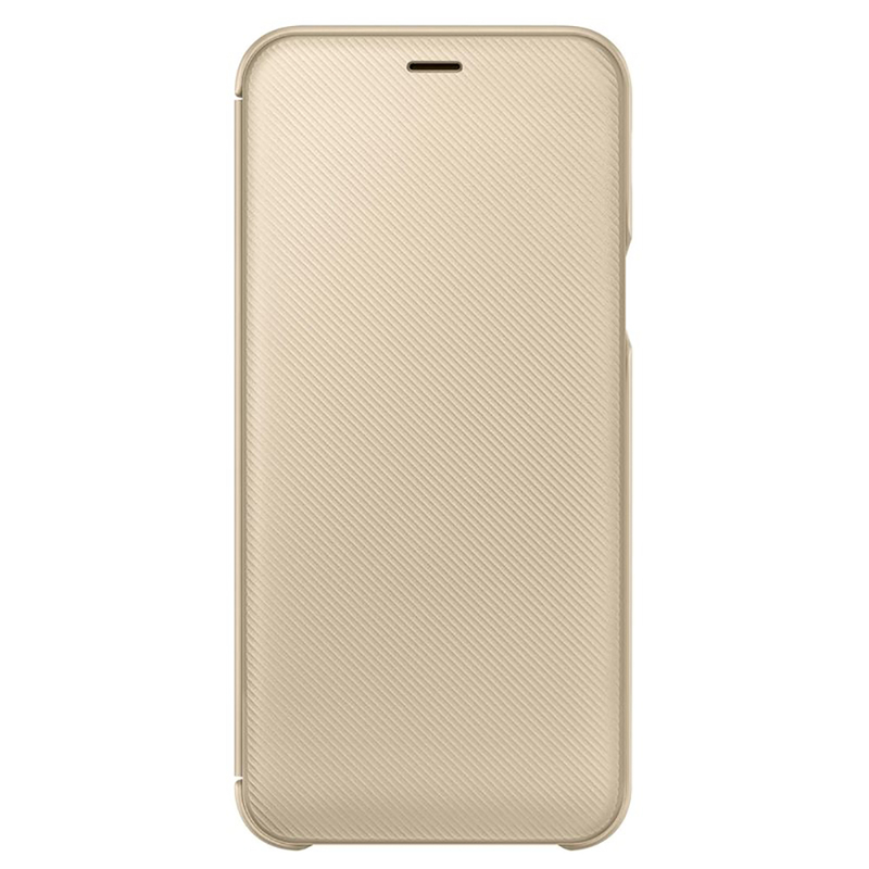 Husa Originala Samsung Galaxy A6 2018 Flip Wallet Gold