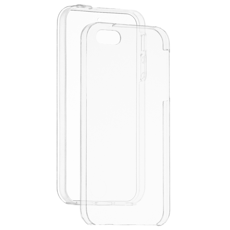 Husa Apple iPhone SE, 5, 5S FullCover 360 - Transparent