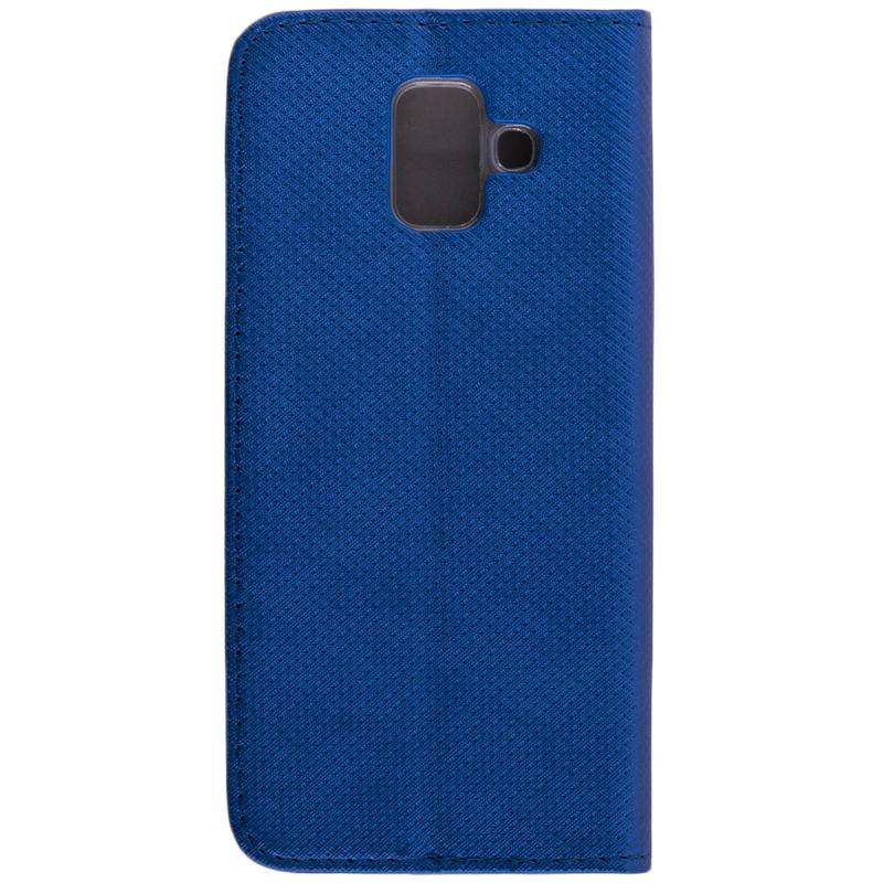 Husa Smart Book Samsung Galaxy A6 2018 Flip Albastru
