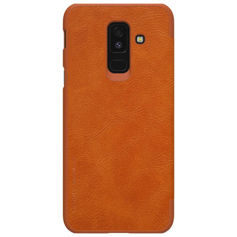 Husa Samsung Galaxy A6 Plus 2018 Flip Nillkin QIN Maro