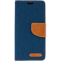Husa Samsung Galaxy J6 2018  Book Canvas Bleu