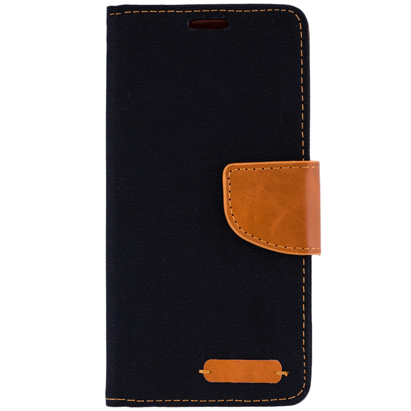 Husa Samsung Galaxy J6 2018  Book Canvas Negru