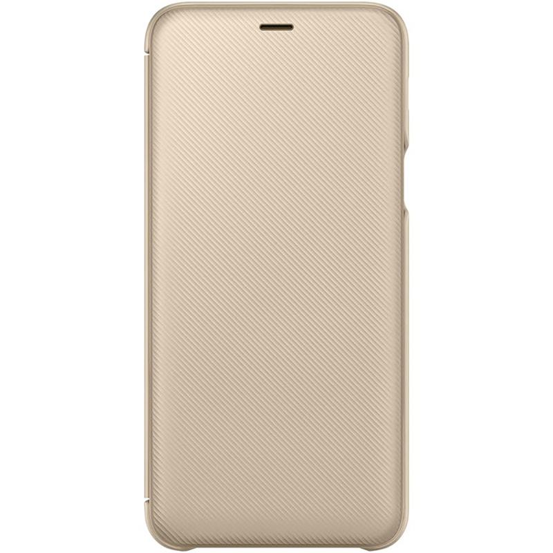 Husa Originala Samsung Galaxy A6 Plus 2018 Flip Wallet Gold