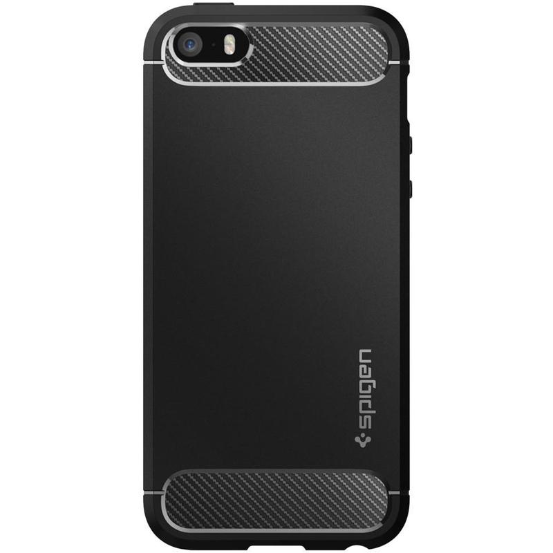 Bumper Spigen iPhone SE, 5S, 5 Rugged Armor - Black