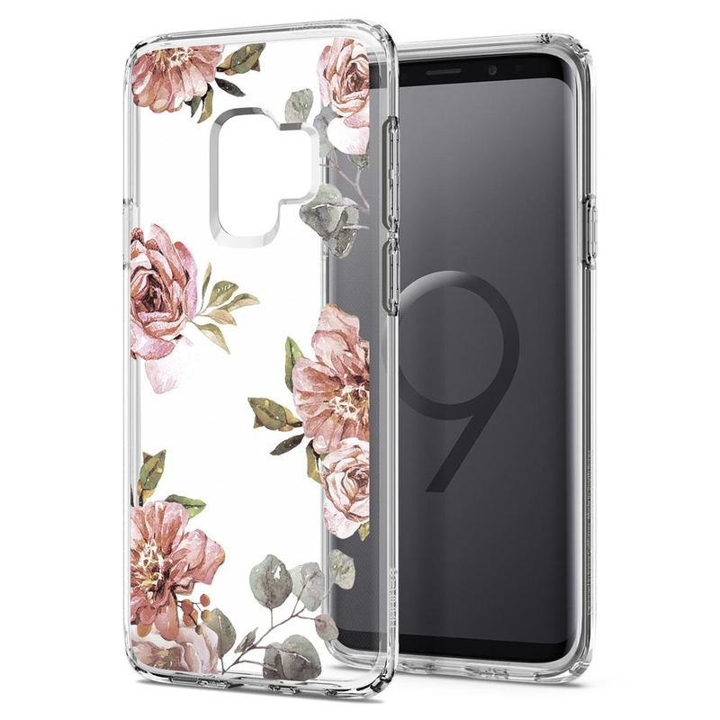 Bumper Samsung Galaxy S9 Spigen Liquid Crystal Blossom - Flower