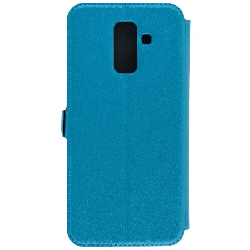 Husa Pocket Book Samsung Galaxy A6 Plus 2018 Flip Turcoaz