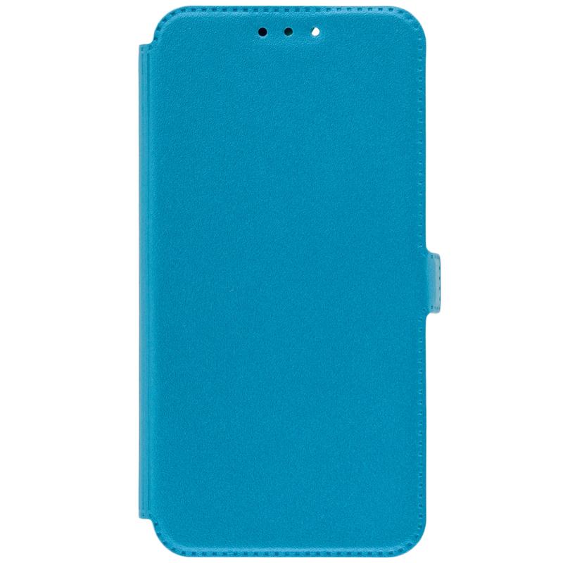 Husa Pocket Book Huawei Y7 Prime 2018 Flip Turcoaz