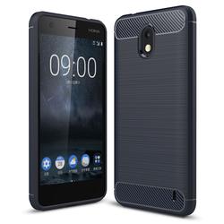 Husa Nokia 2 TPU Carbon Albastru