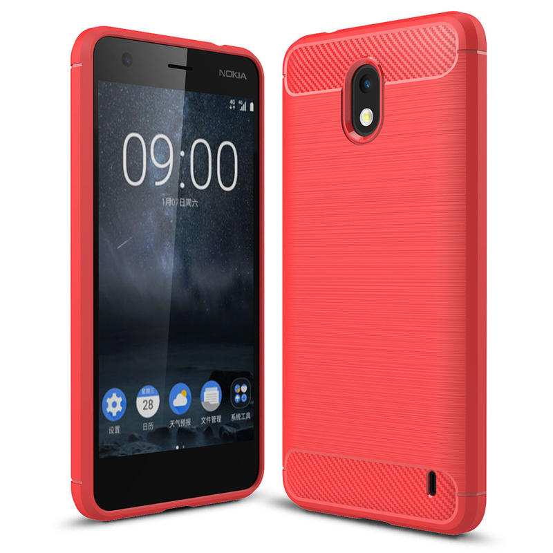 Husa Nokia 2 TPU Carbon Rosu