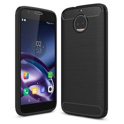 Husa Motorola Moto G5S Plus TPU Carbon Negru