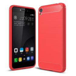 Husa Asus Zenfone 3 Go, Zenfone Live ZB501KL TPU Carbon Rosu