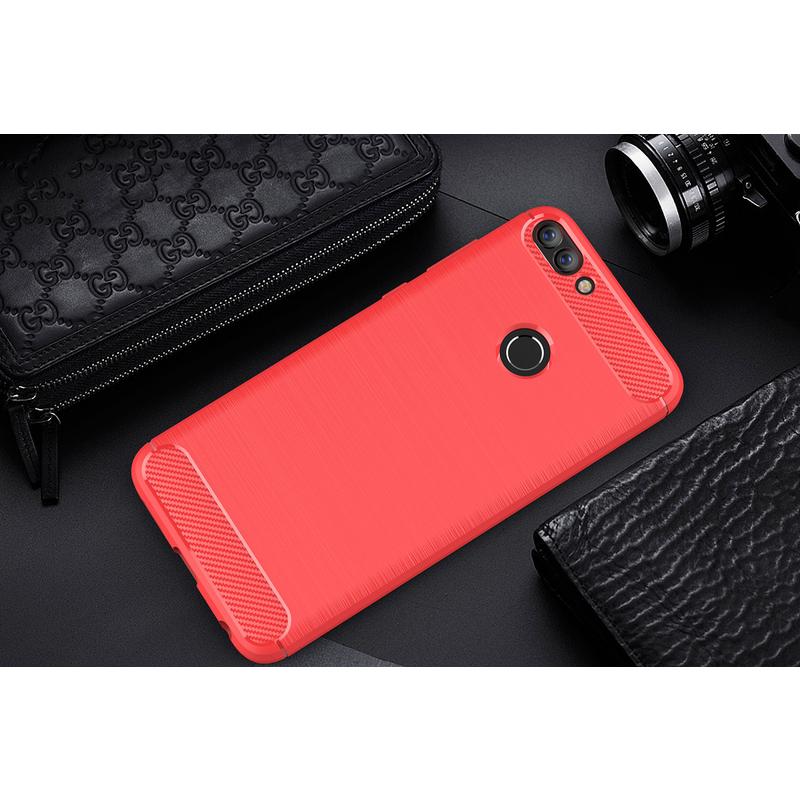 Husa Huawei P Smart TPU Carbon Rosu