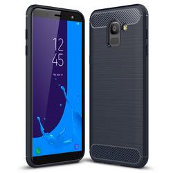 Husa Samsung Galaxy J6 2018 TPU Carbon Albastru