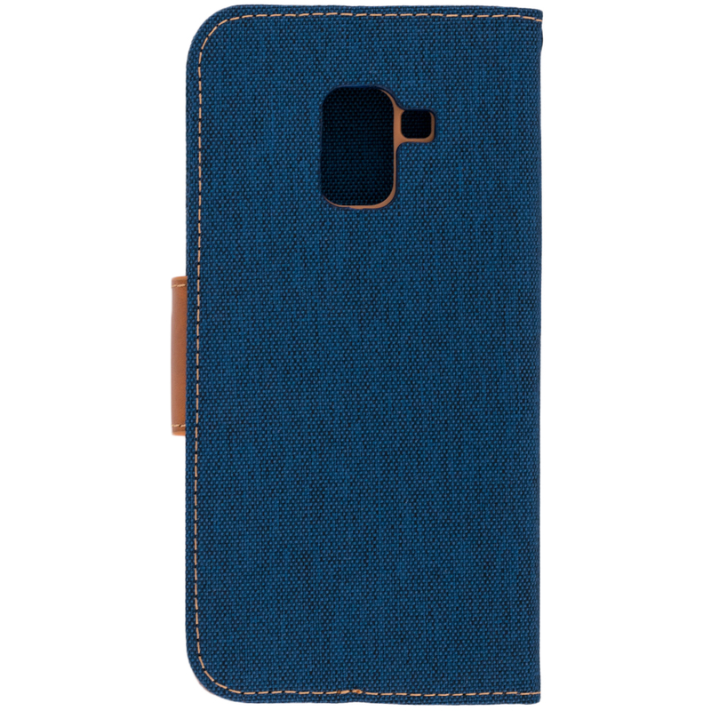 Husa Samsung Galaxy A8 2018 A530  Book Canvas Bleu
