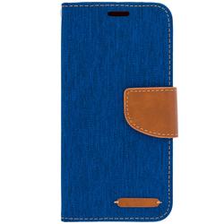 Husa Samsung Galaxy A8 2018 A530  Book Canvas Albastru