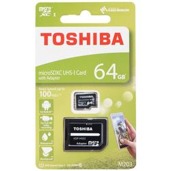 Card de memorie Toshiba Micro SDXC 64 GB UHS-I + Adaptor SD