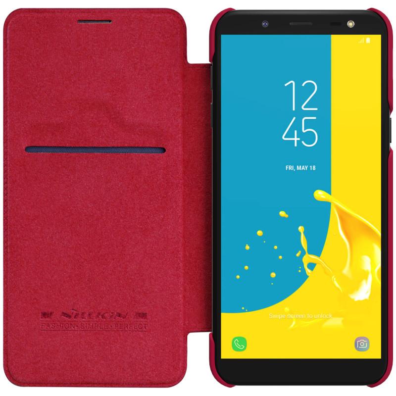 Husa Samsung Galaxy J6 2018 Flip Nillkin QIN Rosu