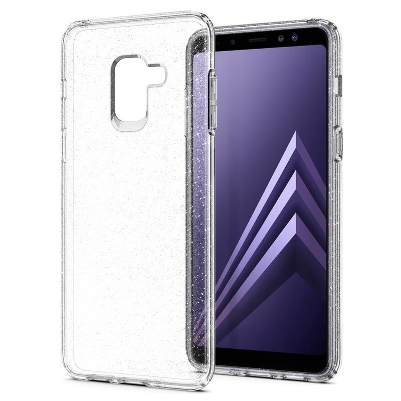 Husa Samsung Galaxy A8 2018 A530 Spigen Liquid Crystal Glitter - Crystal Quartz