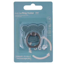 Suport Telefon/Tableta Glitter Bear Ring - Blue