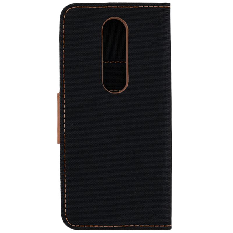 Husa Nokia X6 2018 Canvas Book Negru