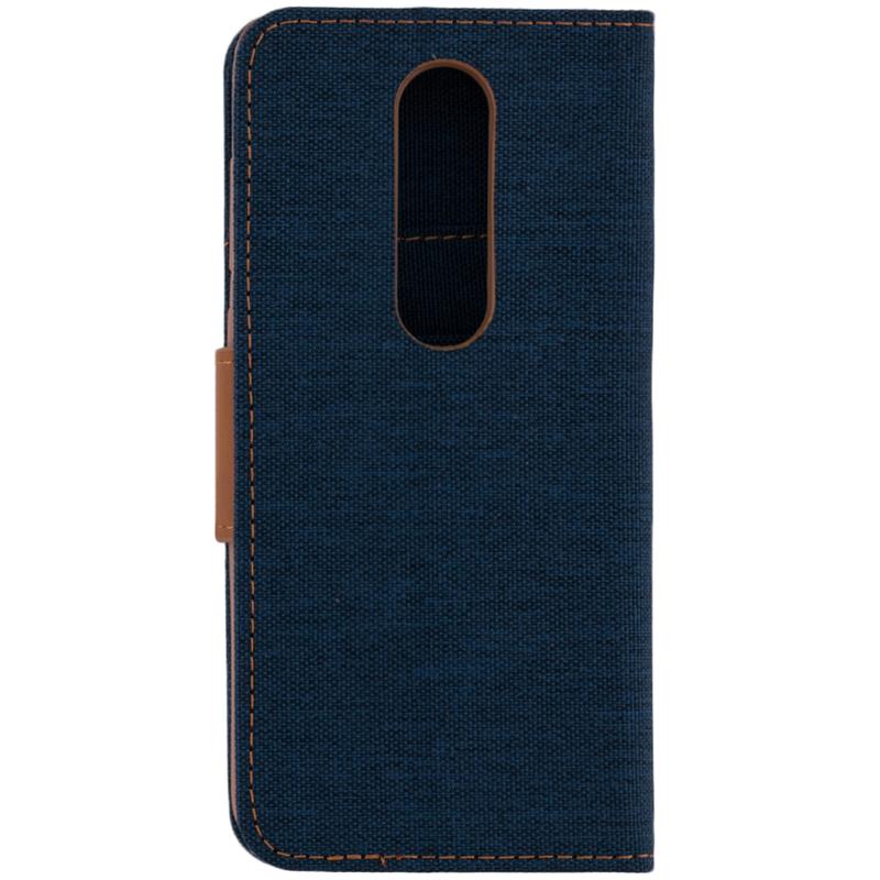 Husa Nokia X6 2018 Canvas Book Bleu