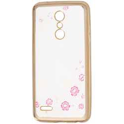 Husa LG K10 2018 Diamond Cover - Auriu