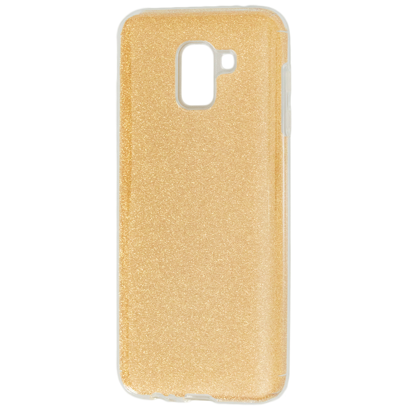 Husa Samsung Galaxy J6 2018 Color TPU Sclipici - Auriu