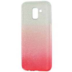 Husa Samsung Galaxy J6 2018 Gradient Color TPU Sclipici - Roz