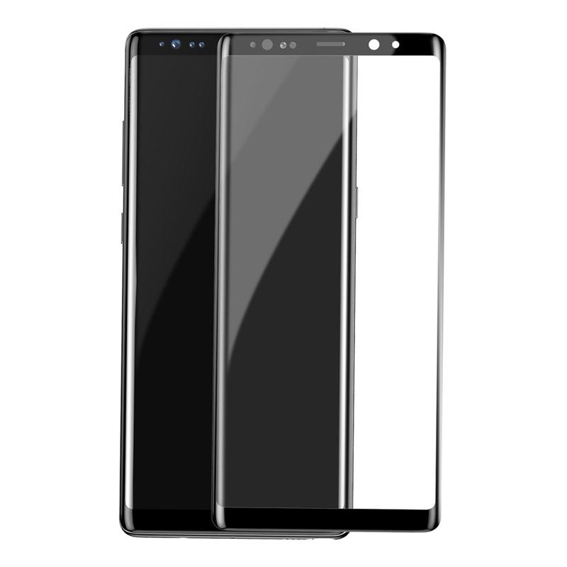 Folie Protectie Samsung Galaxy Note 9 FullGlue Case Friendly PT  - Negru