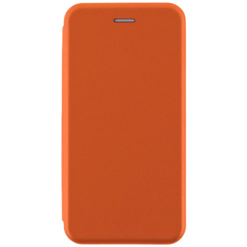 Husa Samsung Galaxy A8 Plus 2018 A730 Flip Magnet Book Type - Portocaliu