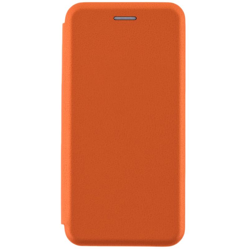 Husa Samsung Galaxy A8 2018 A530 Flip Magnet Book Type - Portocaliu