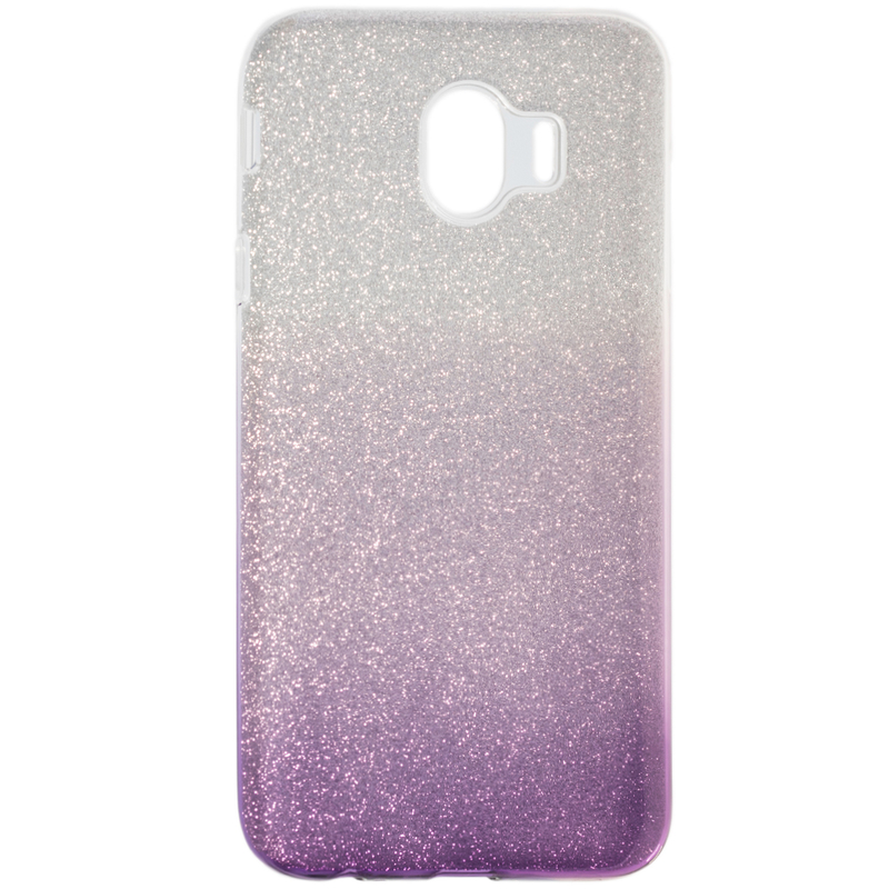 Husa Samsung Galaxy J4 2018 Gradient Color TPU Sclipici - Mov