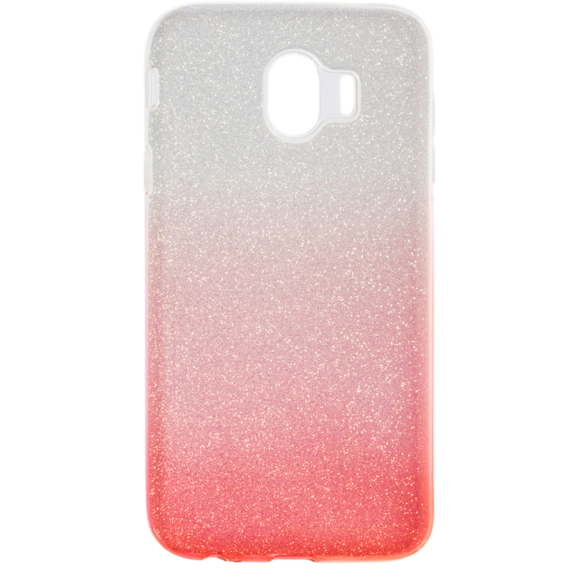 Husa Samsung Galaxy J4 2018 Gradient Color TPU Sclipici - Roz