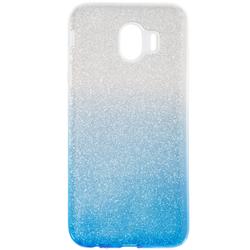 Husa Samsung Galaxy J4 2018 Gradient Color TPU Sclipici - Albastru