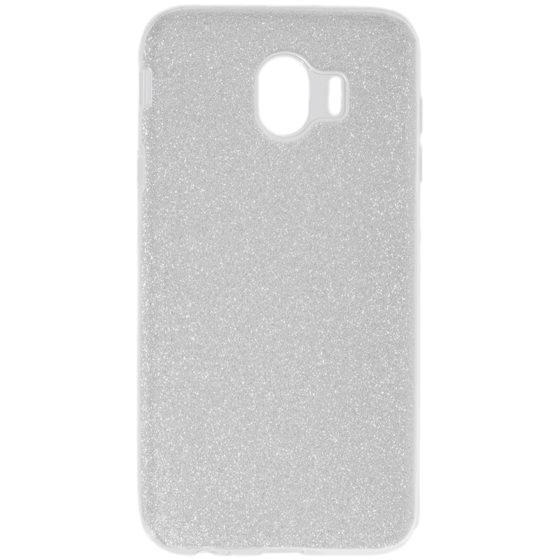 Husa Samsung Galaxy J4 2018 Color TPU Sclipici - Argintiu