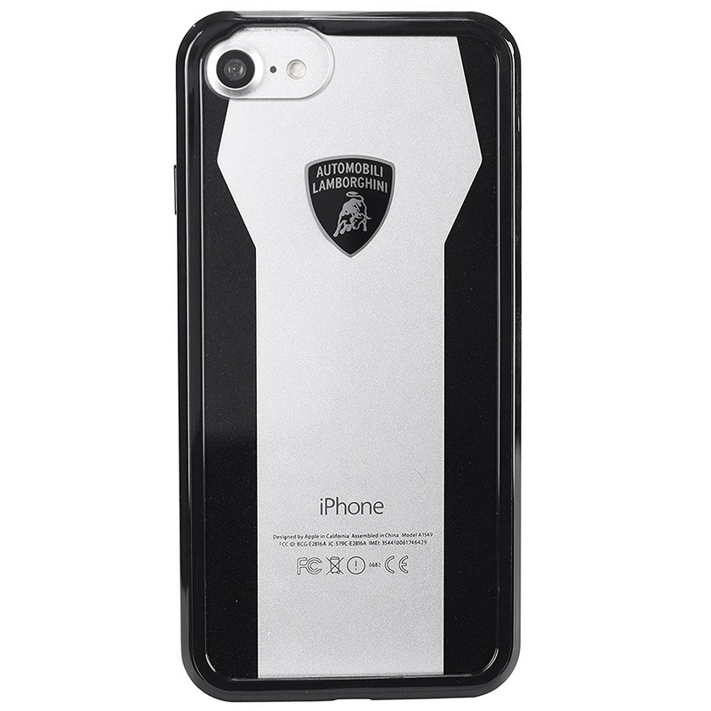 Bumper iPhone 7 Lamborghini Huracan D8 Clear Shock - Black