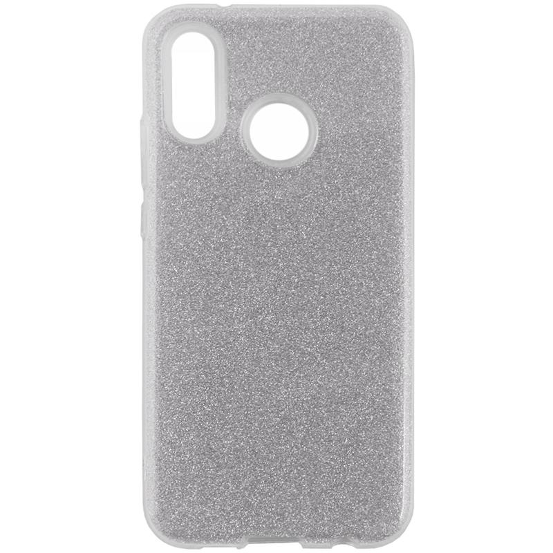 Husa Huawei P20 Lite Color TPU Sclipici - Argintiu