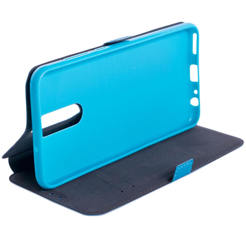 Husa Pocket Book Huawei Mate 10 Lite Flip Albastru