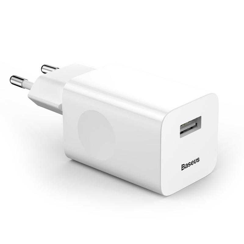 Incarcator Priza Baseus 1xUSB Quick Charge 3.0 - CCALL-BX02 - Alb