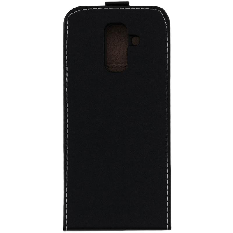 Husa Samsung Galaxy A6 Plus 2018 Toc Flip VIP Negru