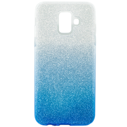 Husa Samsung Galaxy A6 2018 Gradient Color TPU Sclipici - Albastru