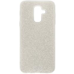 Husa Samsung Galaxy A6 Plus 2018 Color TPU Sclipici - Argintiu