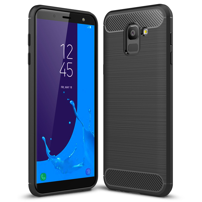 Husa Samsung Galaxy J6 2018 TPU Carbon Negru