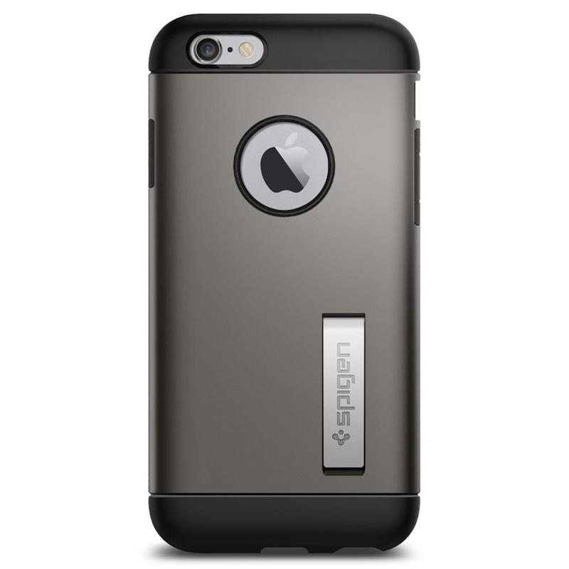 Bumper Spigen Iphone 6, 6S Slim Armor - Gunmetal